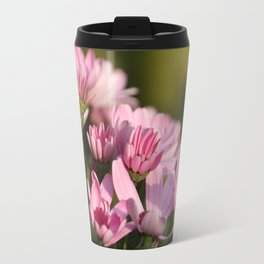 Pink marguerite Travel Mug