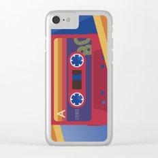80s Retro Tape Deck Clear iPhone Case