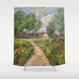 Country Road in Latvia Shower Curtain