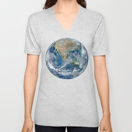 Our Beautiful Blue Marble Earth Unisex V-Neck