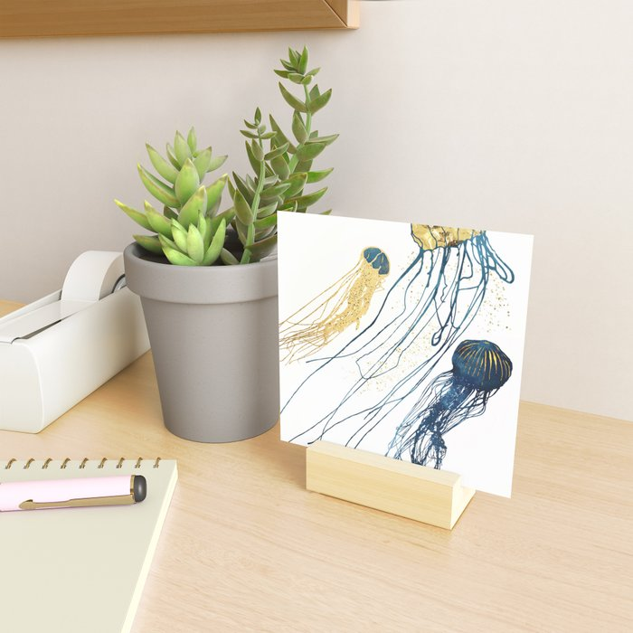 Metallic Jellyfish II Mini Art Print
