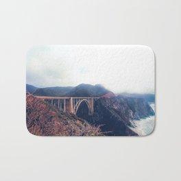 beautiful landscape at Bixby bridge, Big Sur, California, USA Bath Mat