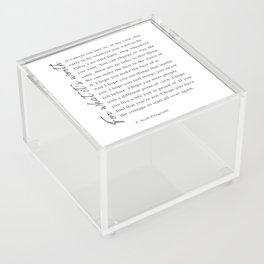 F. Scott Fitzgerald - For What It's Worth Quote  Acrylic Box