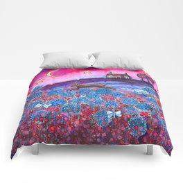 Magenta Skies Comforters