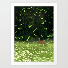 At the edge of the forest Art Print