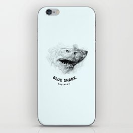 Blue Shark Bastards iPhone Skin