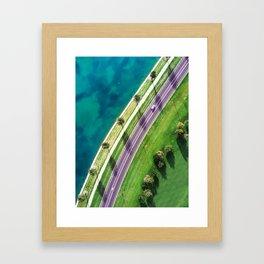Avenue of Palm Trees Framed Art Print
