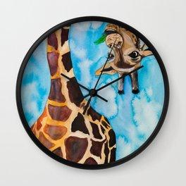 friendly giraffe Wall Clock