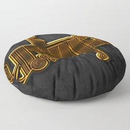 Golden Utopia Ambigram Floor Pillow