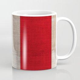 Vintage Italian Flag on Antique Burlap Texture Coffee Mug