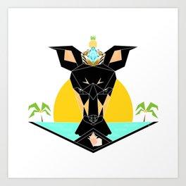 Royal Geo Bahamian Potcake Art Print