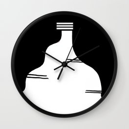 Ribera Navarra. Castildetierra Black & white Wall Clock