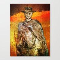clint barton Canvas Prints featuring Clint by Rabassa