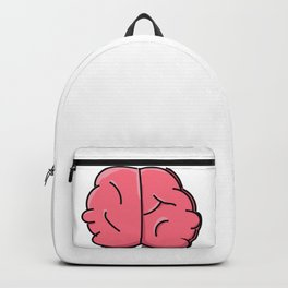 Pink Cartoon Brain Backpack