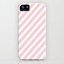 Pink Diagonal Stripes iPhone Case