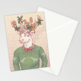 Dasher le Renne Stationery Cards