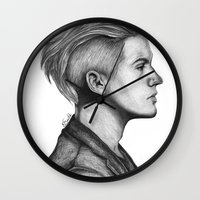 dylan Wall Clocks featuring Dylan by Emily Smith (Emzstuff)