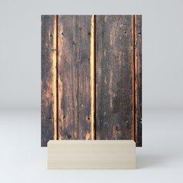 Worn Rustic Wood Boards, Textured Wood Grain Mini Art Print