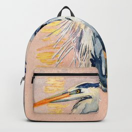 Great Blue Heron at Sunset Backpack