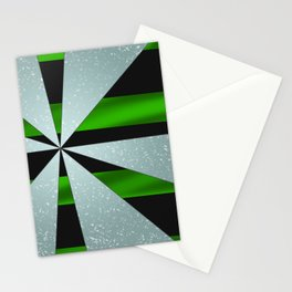 4Shades Glass: Green Black Stationery Cards