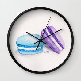 french macarons Wall Clock