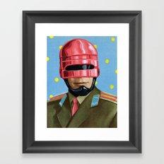 Pink Robocop Framed Art Print