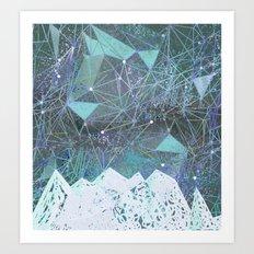 winter space geometry Art Print