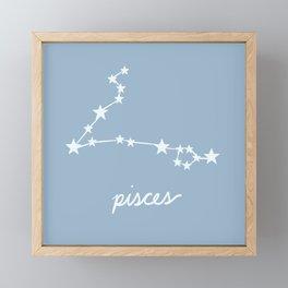 Pisces - Zodiac Constellation Framed Mini Art Print