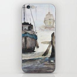 Blue Boat iPhone Skin