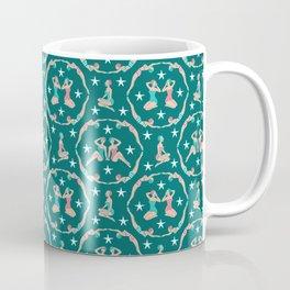 Retro Bathers in Teal Coffee Mug
