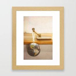 The world Framed Art Print