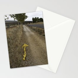 Yellow Arrow of the Camino Stationery Cards