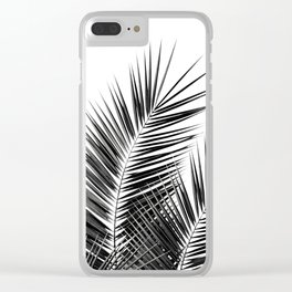Black Palm Leaves Dream - Cali Summer Vibes #1 #tropical #decor #art #society6 Clear iPhone Case