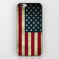 american flag iPhone & iPod Skins featuring American Flag  by  Can Encin