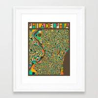 philadelphia Framed Art Prints featuring PHILADELPHIA by Jazzberry Blue