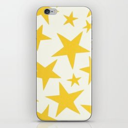 yellow stars iPhone Skin