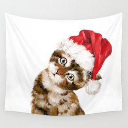 Christmas Baby Cat Wall Tapestry