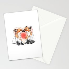 baby fox love Stationery Cards