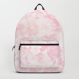 Vintage blush pink baby yellow roses flowers Backpack