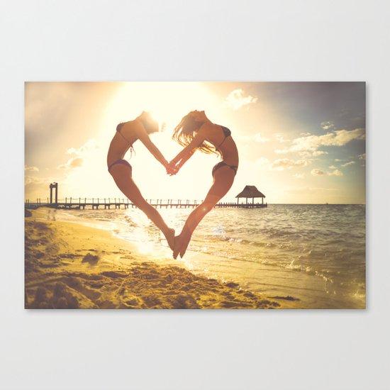 heart beach holiday 5 Canvas Print
