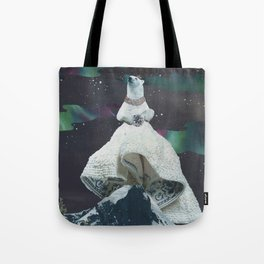 Aurora: Goddess of the Northern Lights and Keeper Keeper of Stars Tote Bag