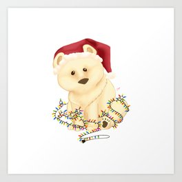 Merry Crisis 2020 : Brown Bear Art Print