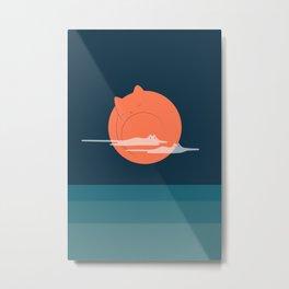 Cat Landscape 105 Metal Print