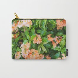 Beautiful Peach Flowers Carry-All Pouch