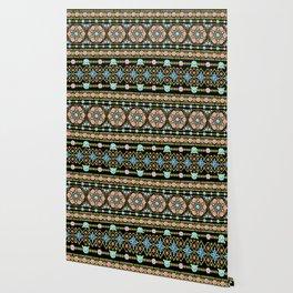 Millefiori Folkloric Stripe Wallpaper