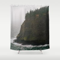 oregon Shower Curtains featuring Oregon Coast: III // Oregon by Corrie Mick