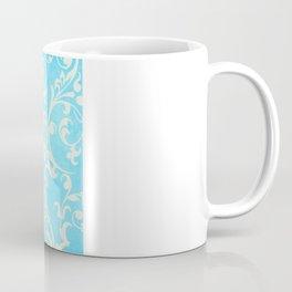 Shabby Chic Aqua Damask Coffee Mug
