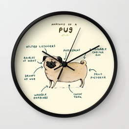Anatomy of a Pug Wall Clock