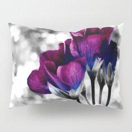 Magenta Blue Flowers Pop of Color Pillow Sham
