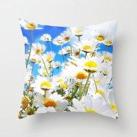 daisy Throw Pillows featuring DAISY by Ylenia Pizzetti
